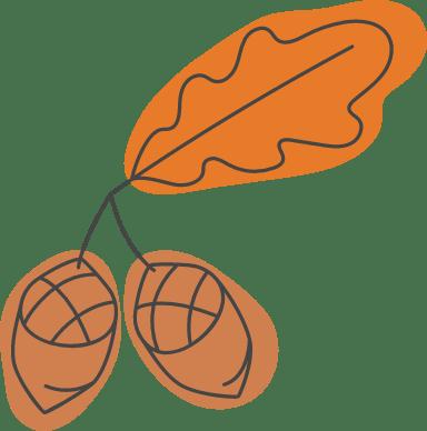Autumn Acorn Pair