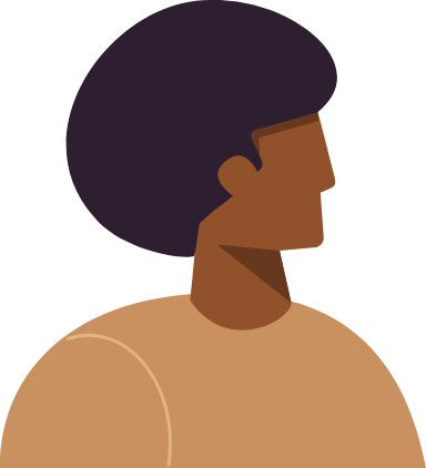 Afro Hair Profile Man