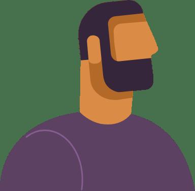 Bearded Profile Man