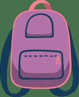 Drawn Book Bag