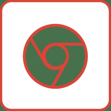 Chrome Outline Square