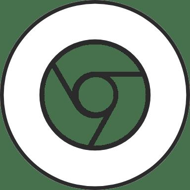 Chrome Double Cirlce