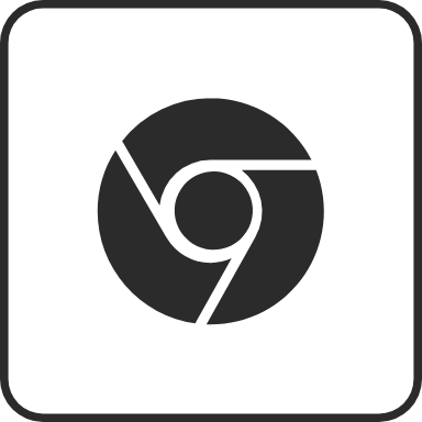 Solid Chrome Rounded Square