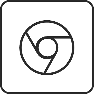 Outline Chrome Rounded Square