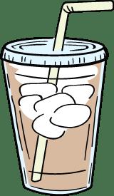 Iced Coffee & Straw