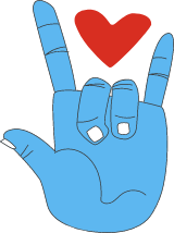 I Love You Heart Hand