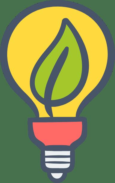 Lightbulb & Leaf