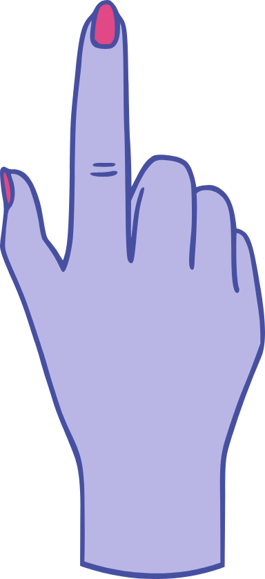 Pointing Up Finger