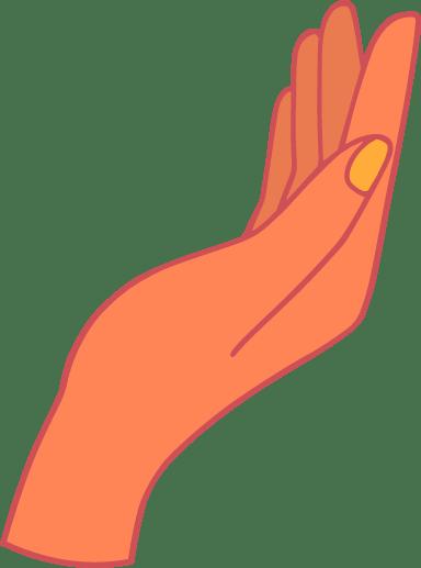 Elegant Hand Palm