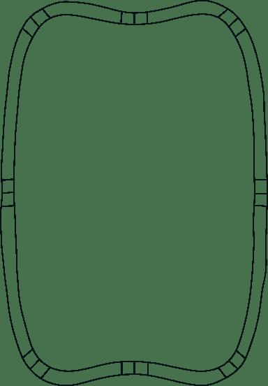 Drawn Concave Frame