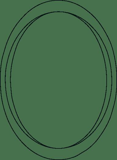 Drawn Oval Frame