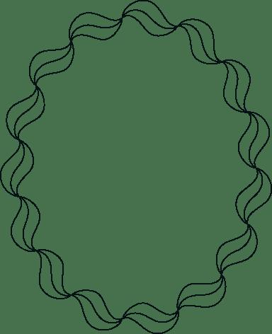 Drawn Ribbon Frame