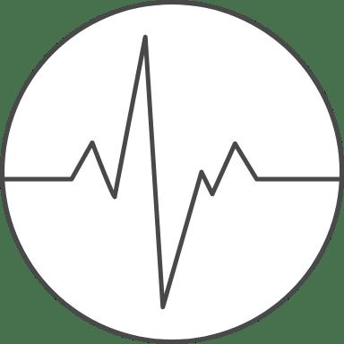 Heartbeat Graph Circle