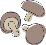 Sketched Mushrooms