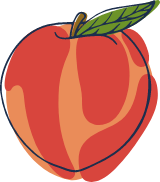 Sketched Red Apple