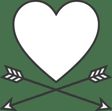 Crossed Arrows Heart