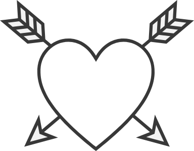 Double Arrows Heart