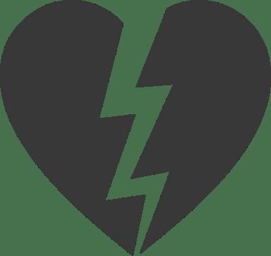 Lightning Split Heart