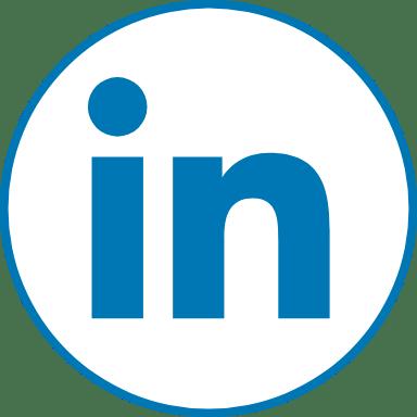 Circle Blue LinkedIn