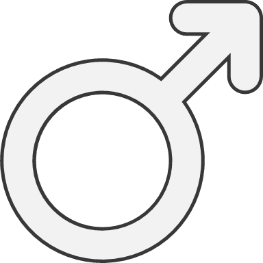 Rounded Male Sign