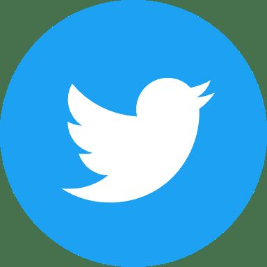 Round Blue Twitter