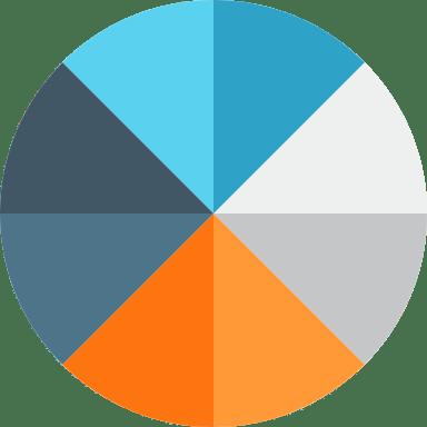 Eight-Piece Pie Chart