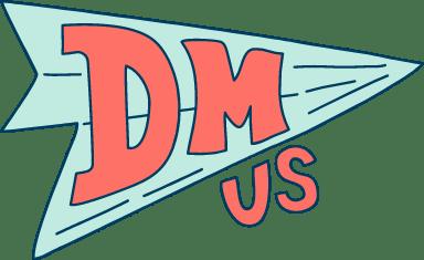 DM Us Paper Airplane