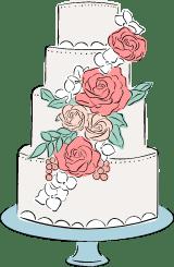 Four-Tiered Wedding Cake