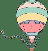 Hot Air Balloon & Bunting