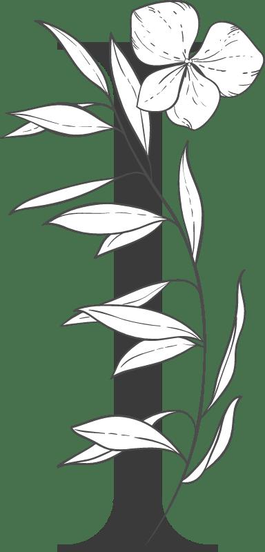 """Leafy Letter """"I"""""""
