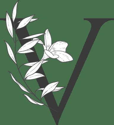 """Leafy Letter """"V"""""""