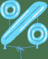 Foil Balloon Percent Sign