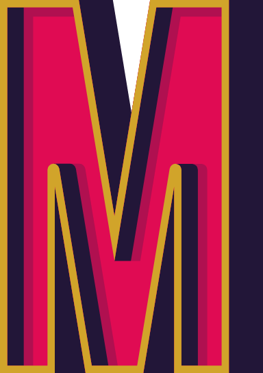 """Marquee Letter """"M"""""""