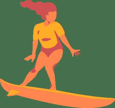 Riding Surfer