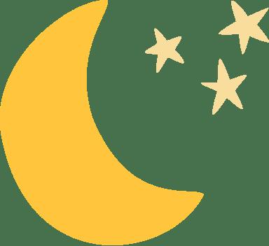 Moon & Three Stars
