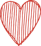 Lined Heart