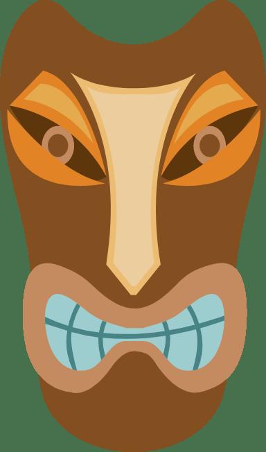 Grimacing Tiki Mask
