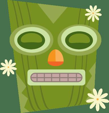 Dozing Tiki Mask