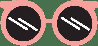 Round Red Sunglasses