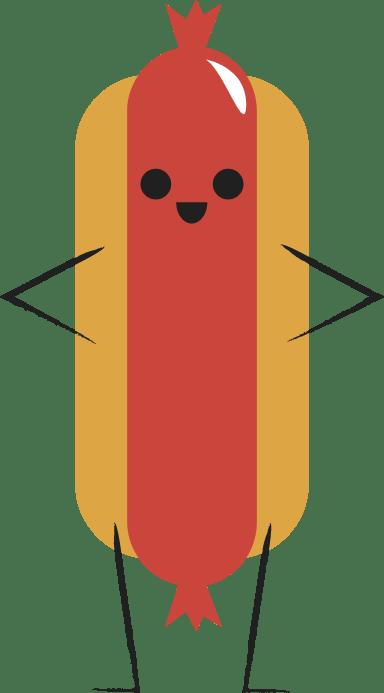 Standing Hot Dog