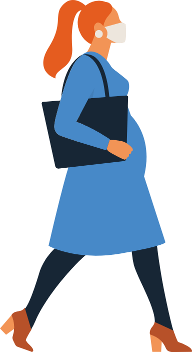 Masked Pregnant woman
