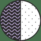 Wavy Split Circle