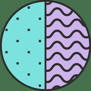 Dotted Split Circle
