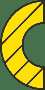 Striped Semicircle