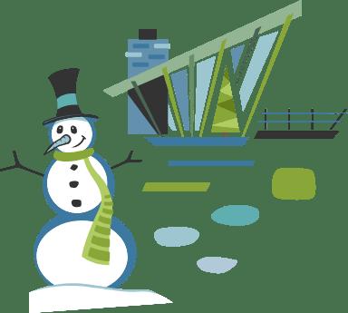Snowman & House