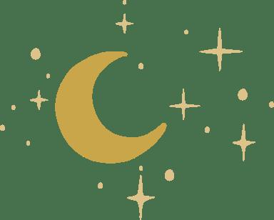 Waning Moon & Stars