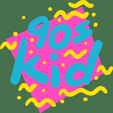 90's Kid Text