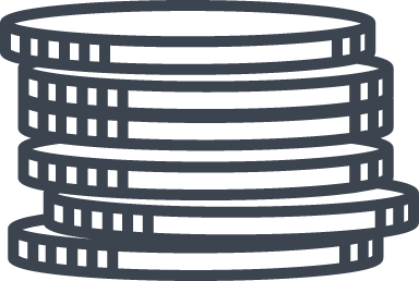 Blank Coin Stack