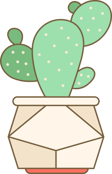 Potted Paddle Cactus