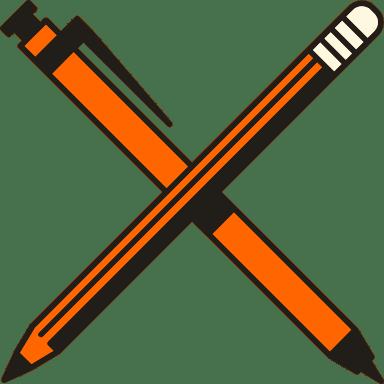Retro Pencil & Pen